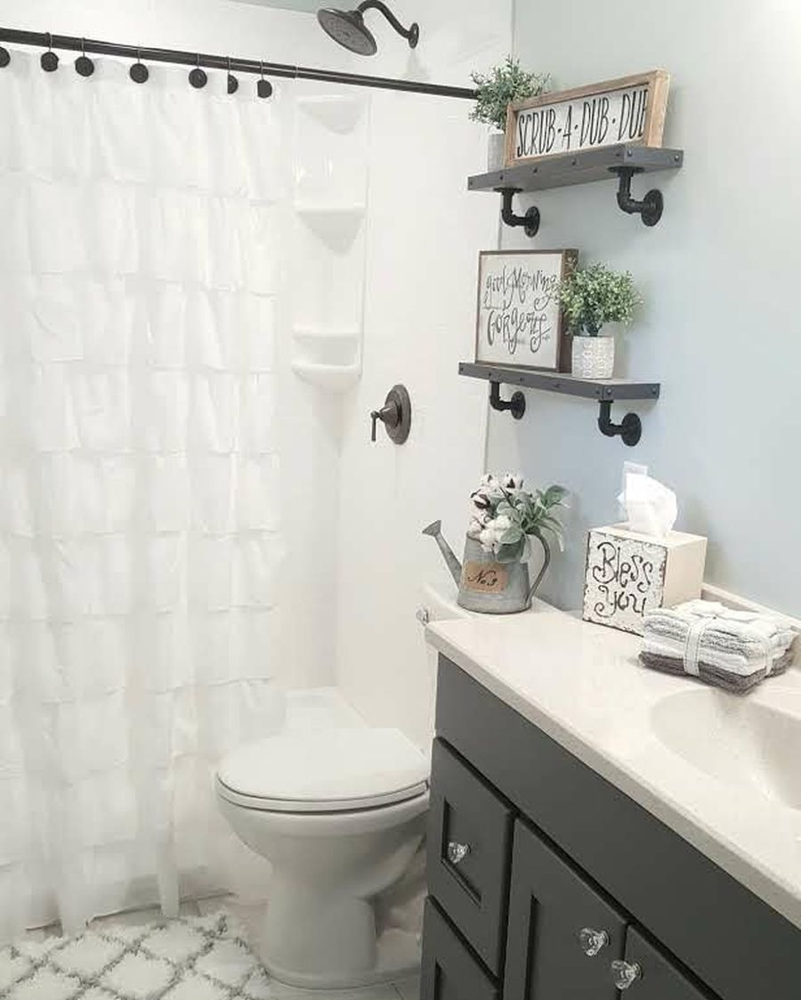 Rustic Farmhouse Style Bathroom Design Ideas 13 - Download Small Farmhouse Bathroom Design Ideas Pictures