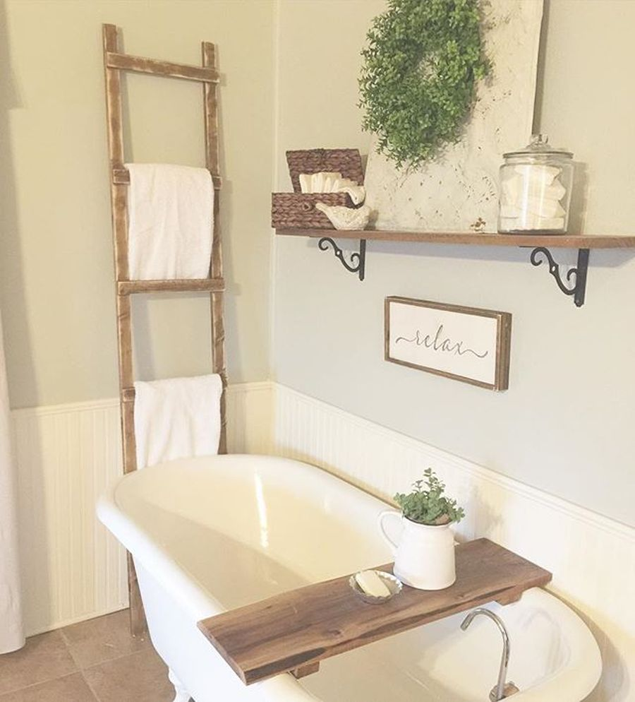 Rustic farmhouse style bathroom design ideas 62 - Hoommy.com on Rustic Farmhouse Bathroom  id=99417
