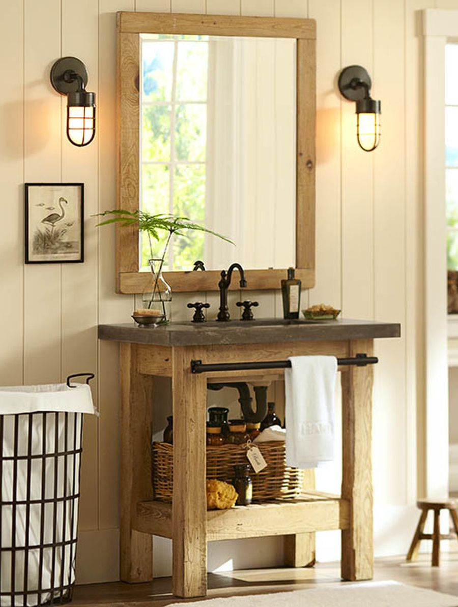 Rustic farmhouse style bathroom design ideas 7 - Hoommy.com
