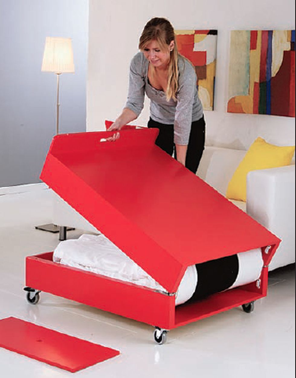 Saving space with creative folding bed ideas 5 for Portable bed ideas