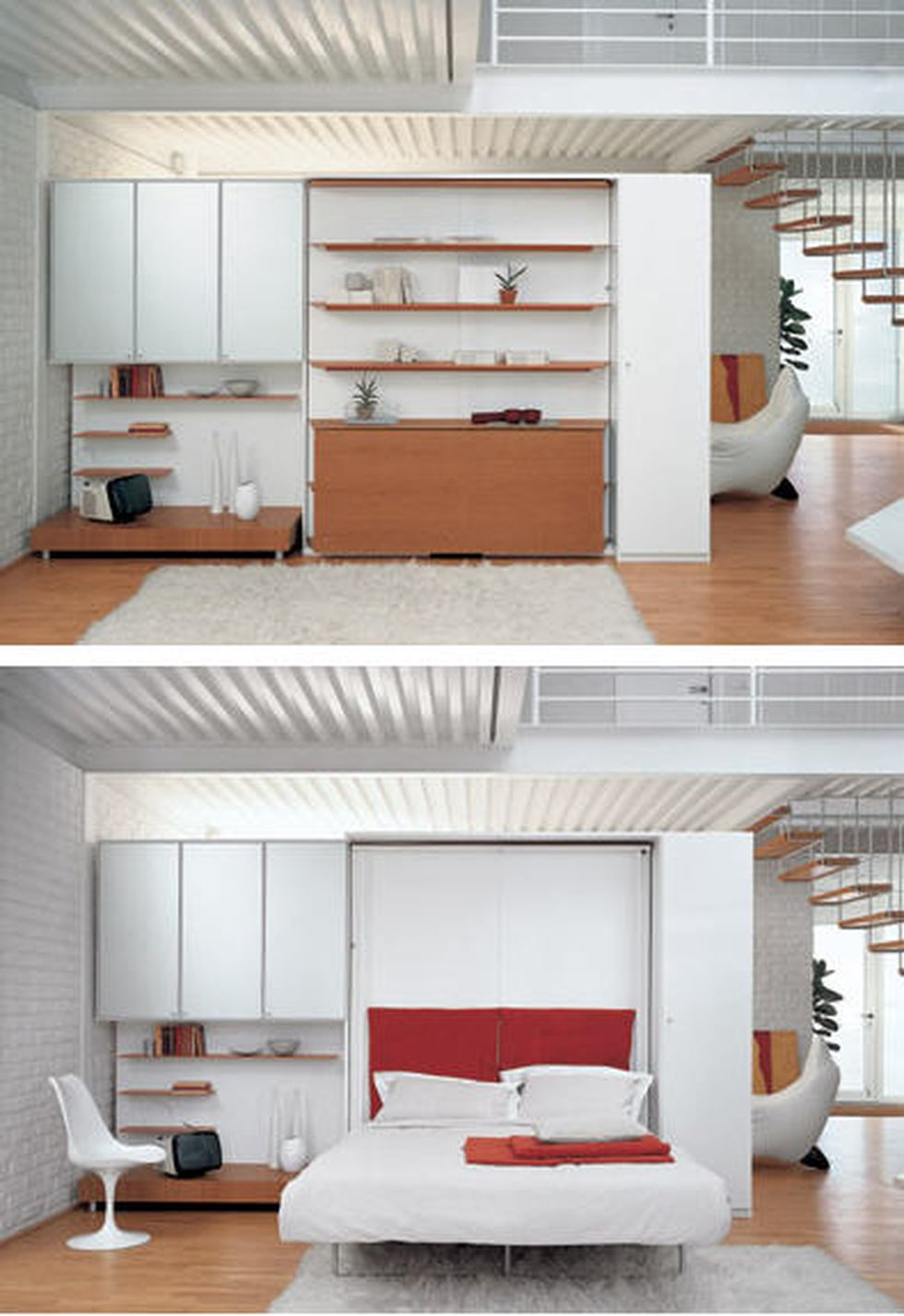 Saving space with creative folding bed ideas 59 - Hoommy.com