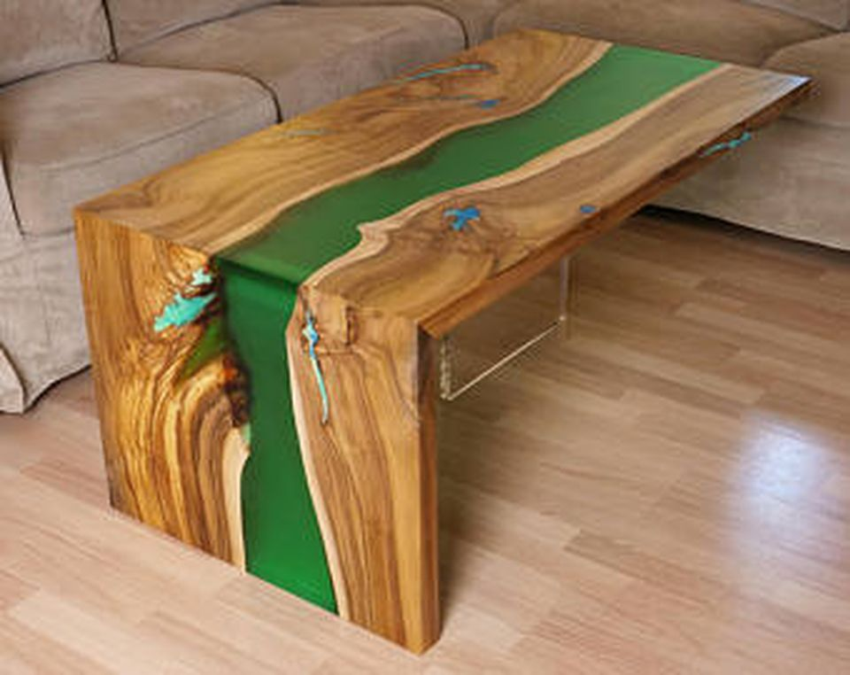 Awesome Resin Wood Table Project By Finewoodencreations