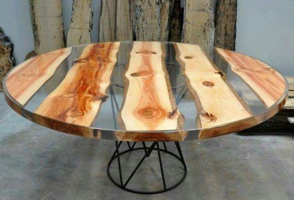 Merveilleux Awesome Resin Wood Table Project 24