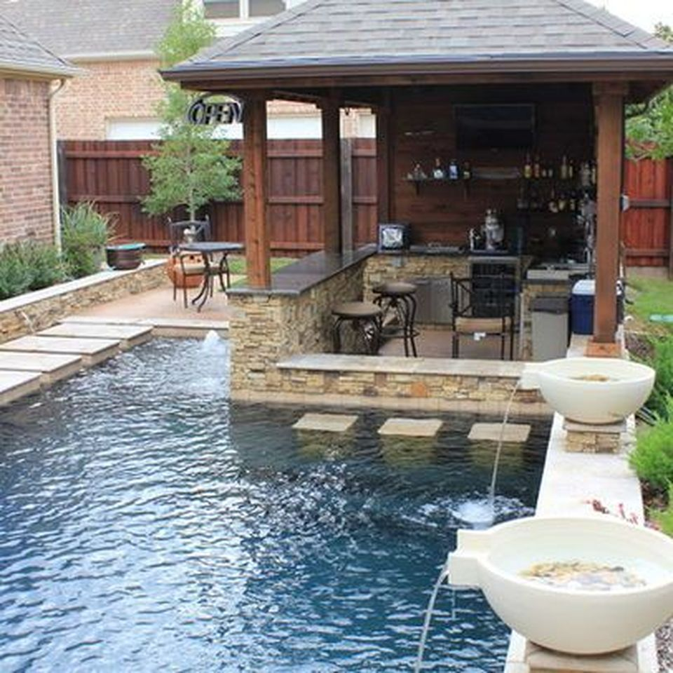 Awesome Yard And Outdoor Kitchen Design Ideas 23 Hoommy Com