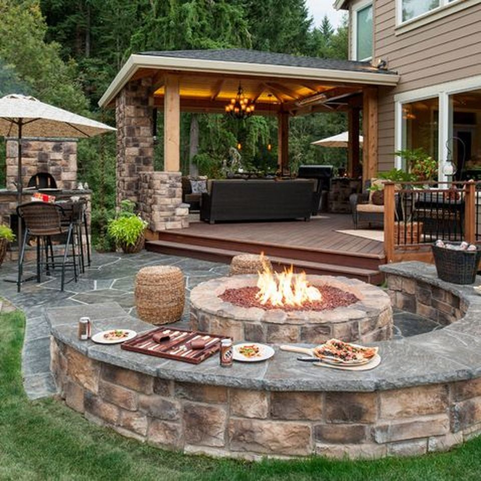 Awesome Yard and Outdoor Kitchen Design Ideas 35 - Hoommy.com