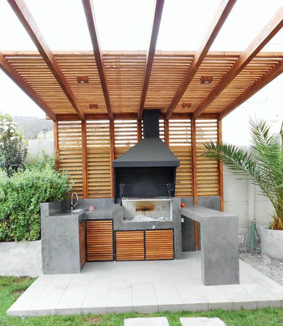 Incredible Outdoor Kitchen Design Ideas On Backyard: Awesome Yard And Outdoor Kitchen Design Ideas 37