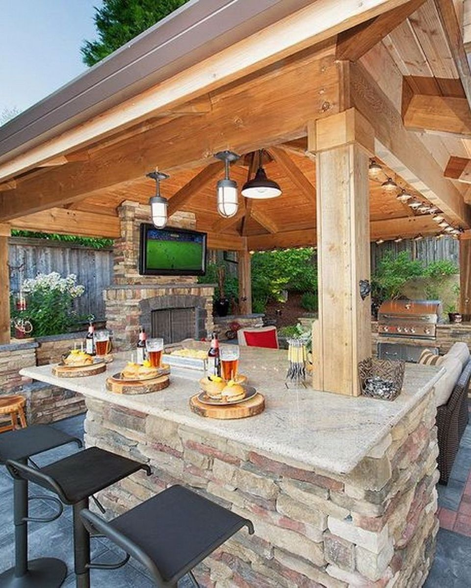 Awesome Yard and Outdoor Kitchen Design Ideas 47 - Hoommy.com on Patio Kitchen id=42516