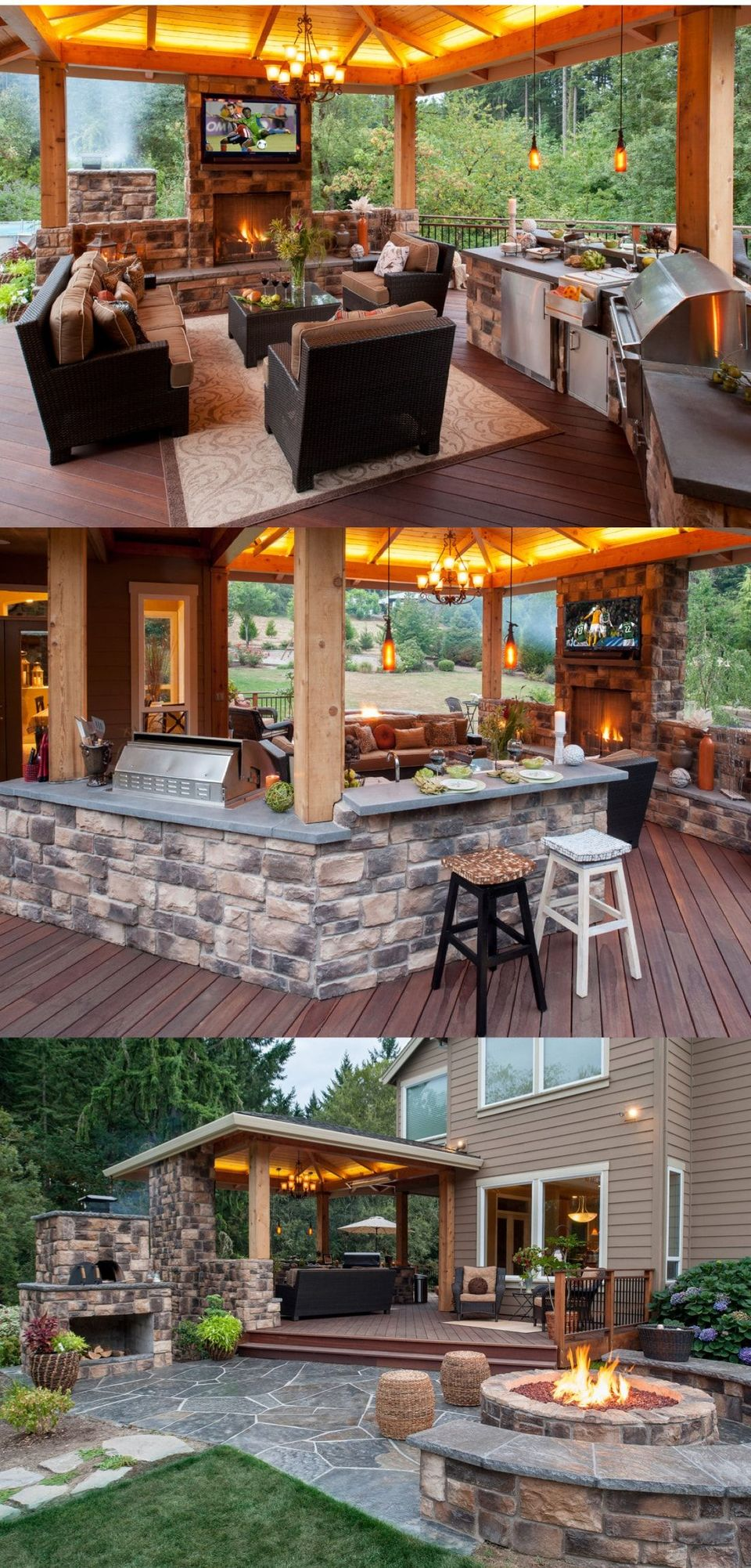 Awesome Yard and Outdoor Kitchen Design Ideas 50 - Hoommy.com