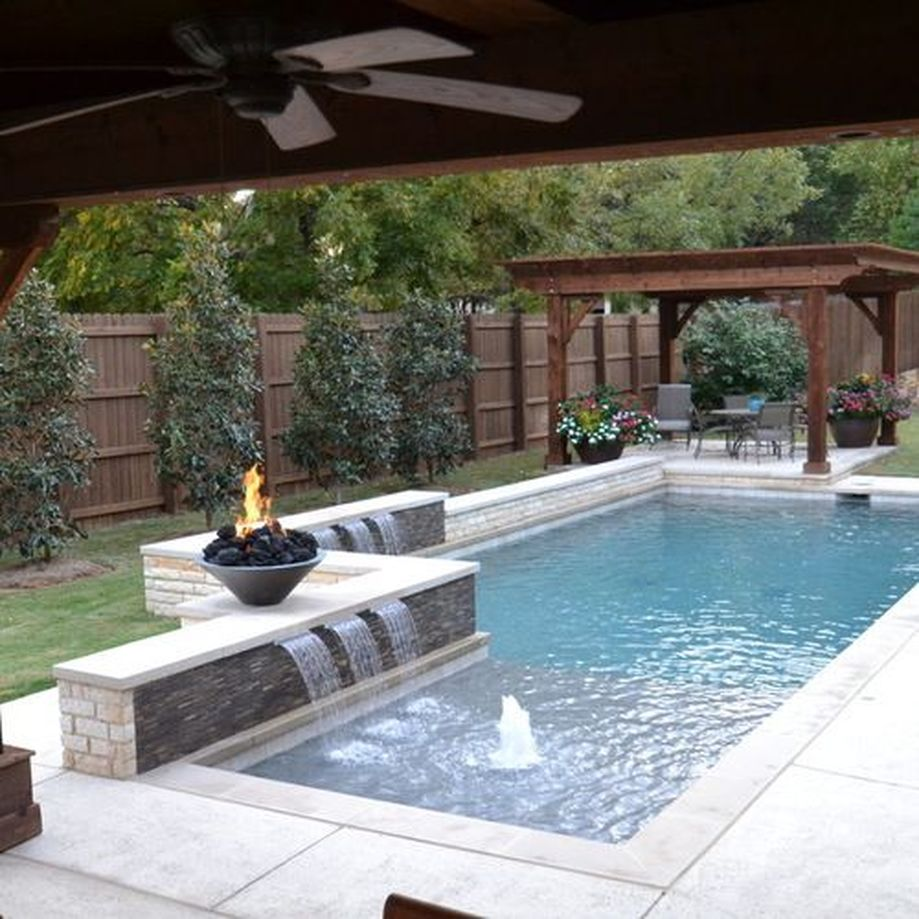 Awesome Small Pool Design for Home Backyard 34 - Hoommy.com on Small Rectangular Backyard Ideas id=75637