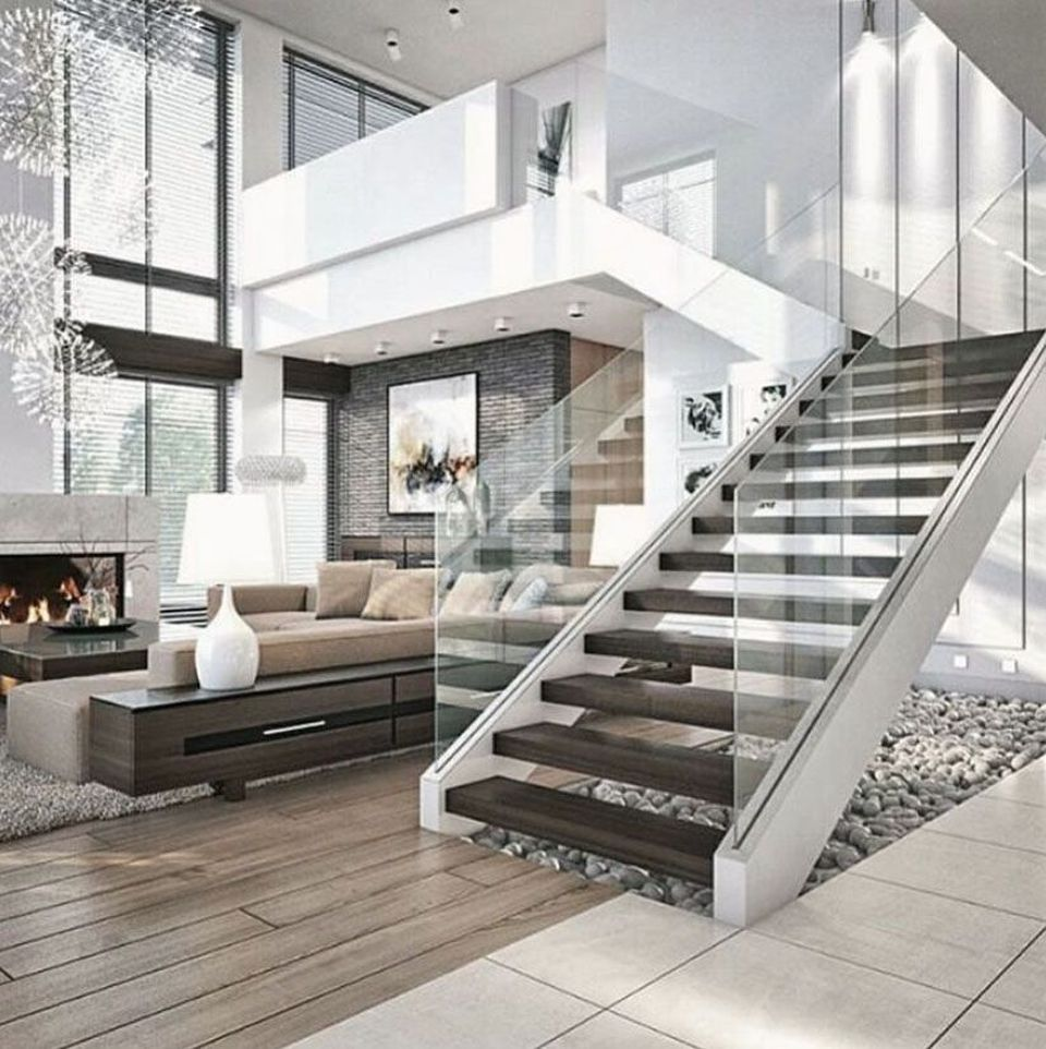 Modern Home Plans With Lofts: Urban Home Interior Decor Ideas 89