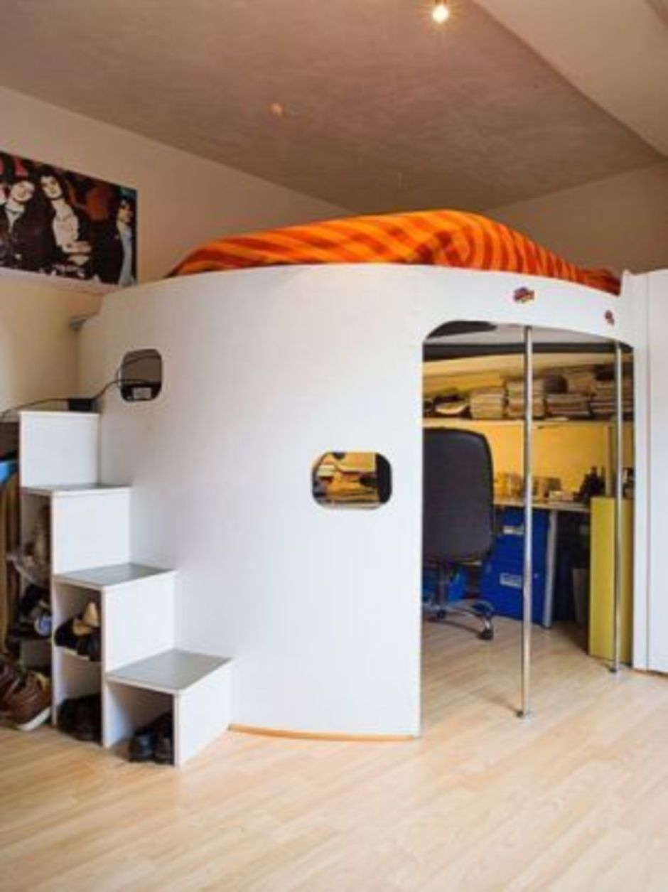 Cool Room Design Ideas: Awesome Cool Loft Bed Design Ideas And Inspirations 93