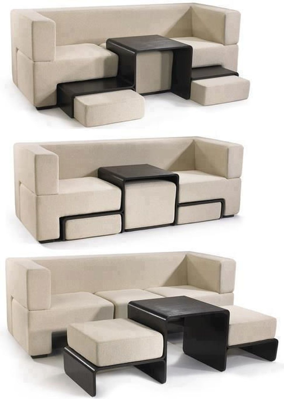 Cool Modular And Convertible Sofa Design For Small Living Room 29 - Hoommy.com