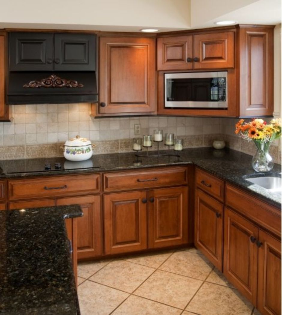 Elegant Kitchen Light Cabinets With Dark Countertops 51