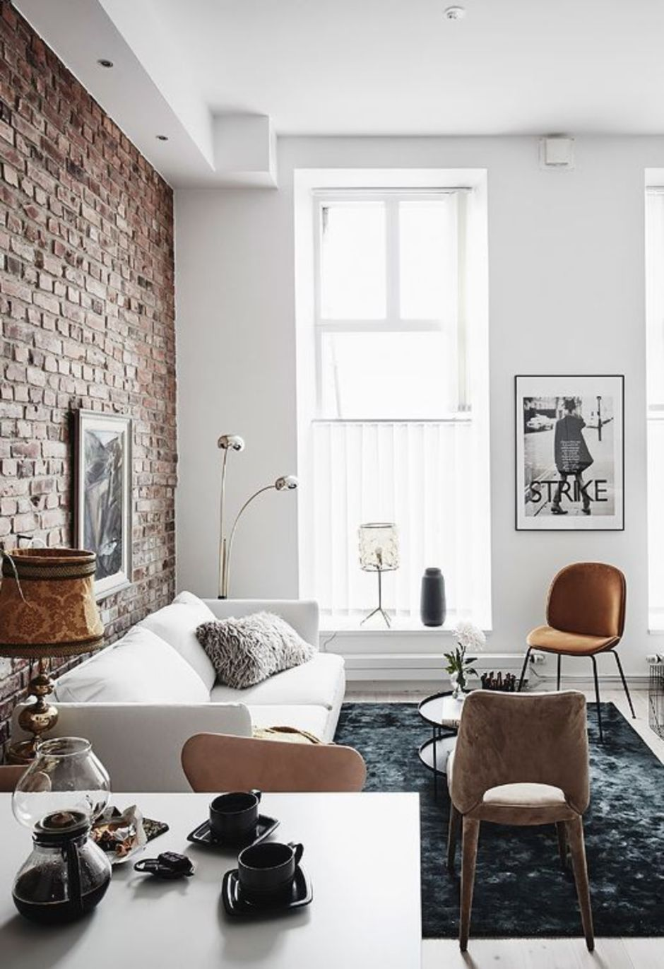 Brick Wall Living Room: Fascinating Exposed Brick Wall For Living Room 27