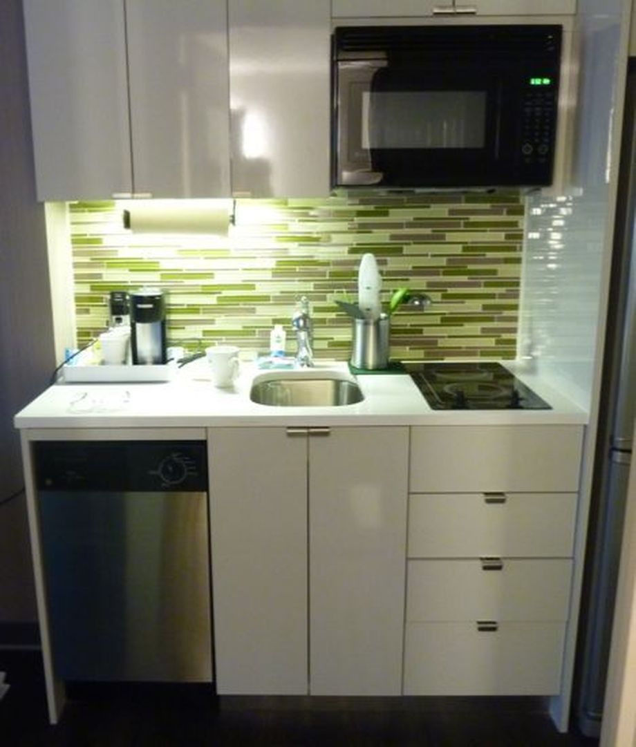 How To Make The Best Of Your Kitchenette: 50 Ideas How To Make Small Kitchen For Apartment 18