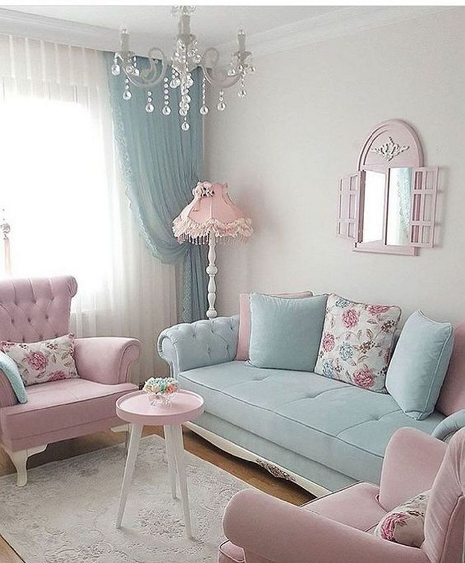 Beau Cozy And Colorful Pastel Living Room Interior Style 28