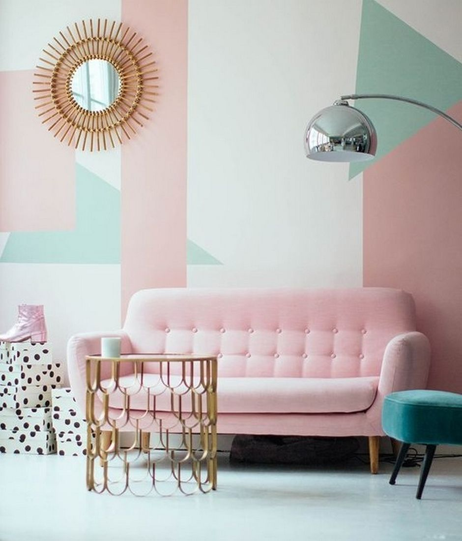 Pastel Colors And Creativity Turning Rooms Into Modern: Cozy And Colorful Pastel Living Room Interior Style 31